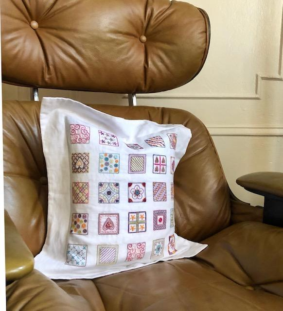 Embroidery Pillow UC
