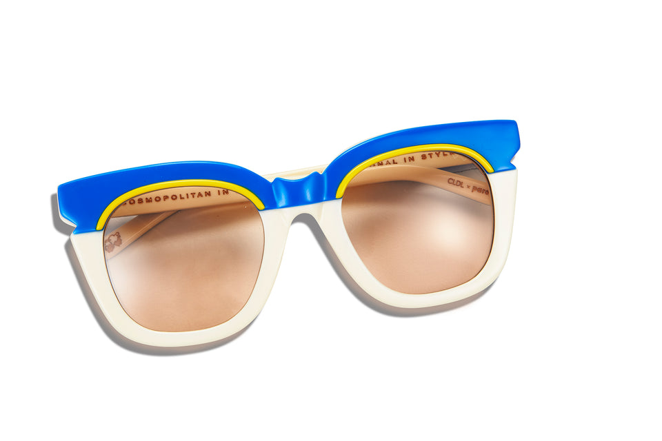CLDL X PARED - Pools & Palms - Ivory/Cobalt - Taupe Lenses