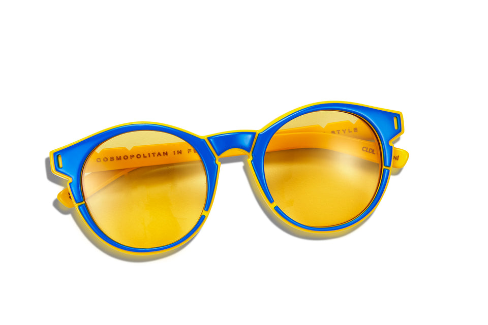 CLDL X PARED Lime & the Coconut -Cobalt Blue/ Honeycomb -Yellow lenses