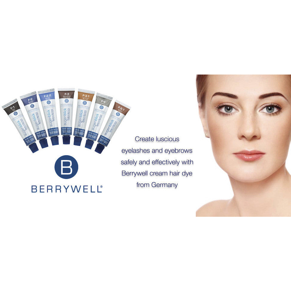 Berrywell BLUE-BLACK 2.0 Eyebrow Tint Hair Dye - Gold Cosmetics & Supplies