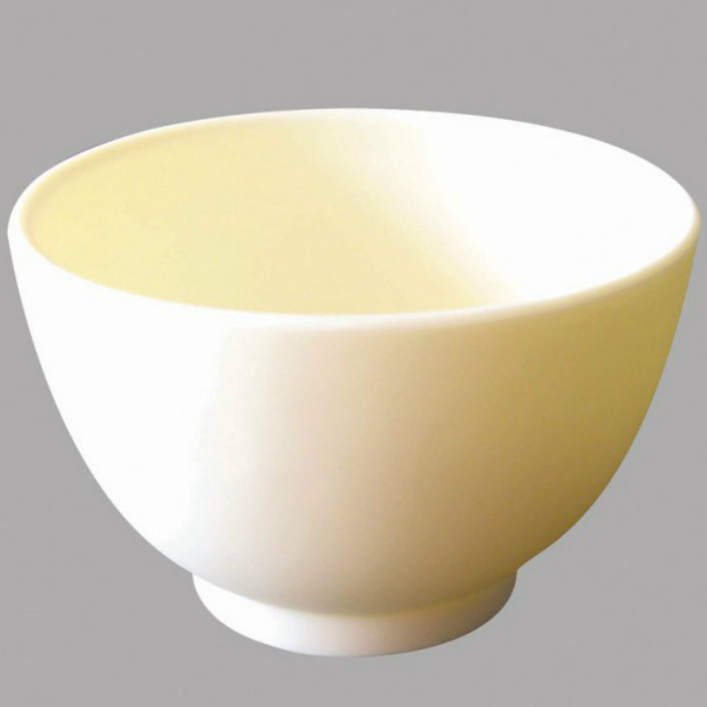 1 CASE/ 50-PCS MEDIUM - Rubber Silicon Mask Mixing Bowl (White) - Gold Cosmetics & Supplies