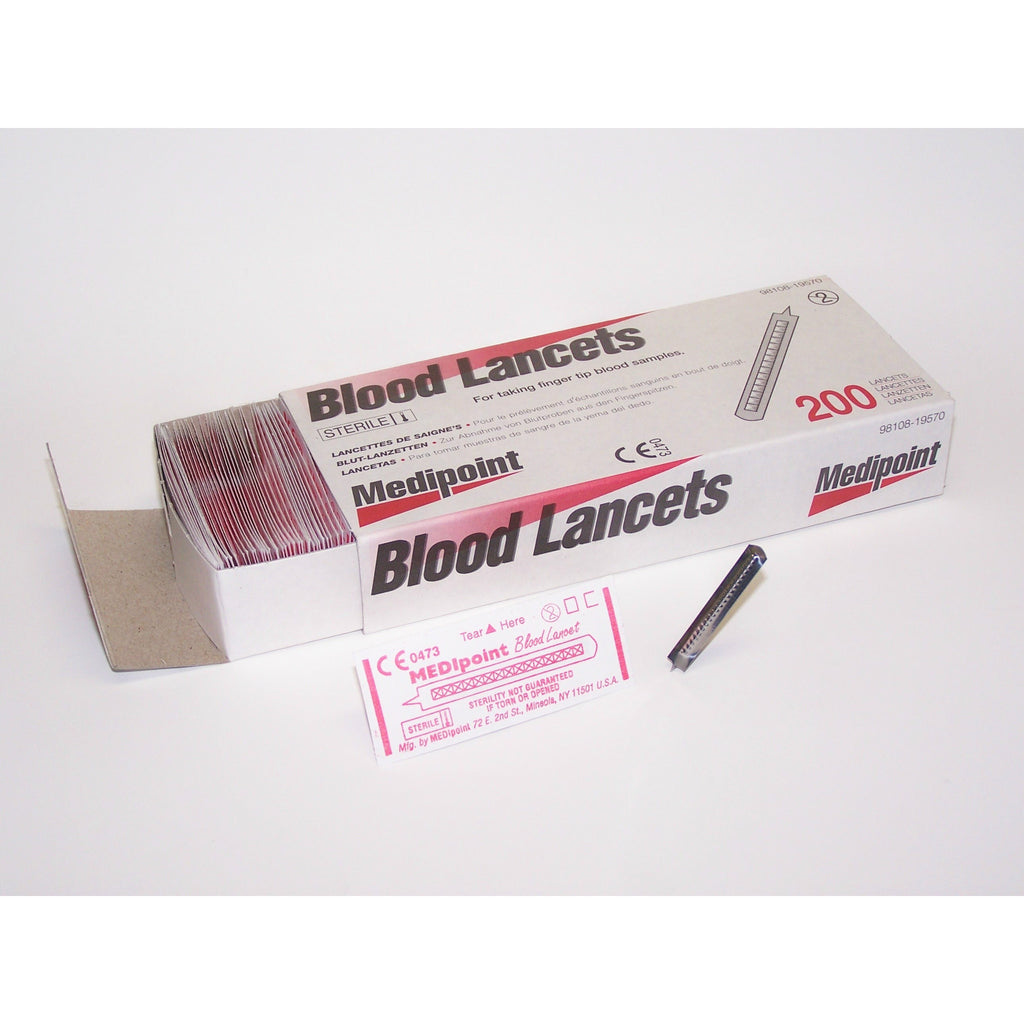 200-PCS/ Disposable Blood Lancet - Gold Cosmetics & Supplies