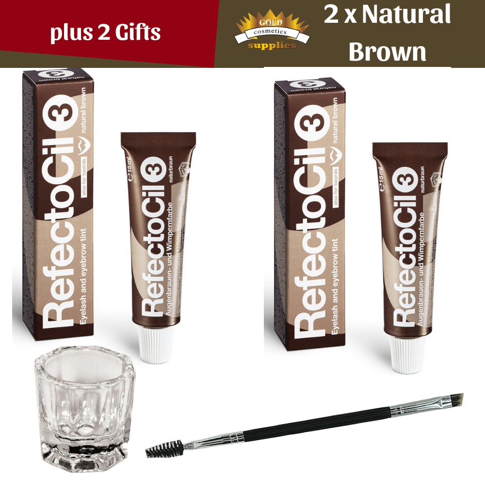 Refectocil Natural Brown + Natural Brown + 2 Gifts