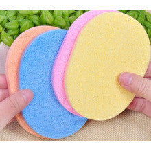 24-pcs/ Multi-color Oval PVA Face Sponges - Gold Cosmetics & Supplies