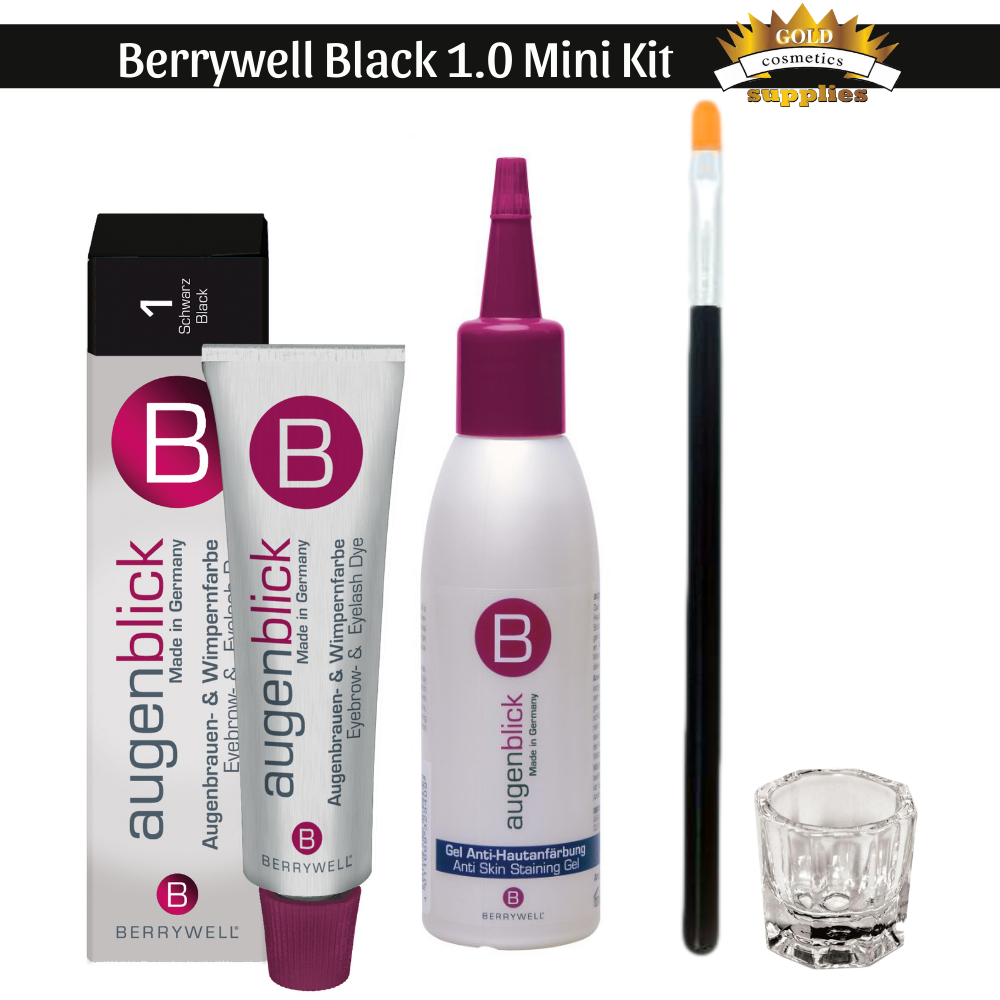4-pc/ Berrywell Black 1.0 Kit - Gold Cosmetics & Supplies