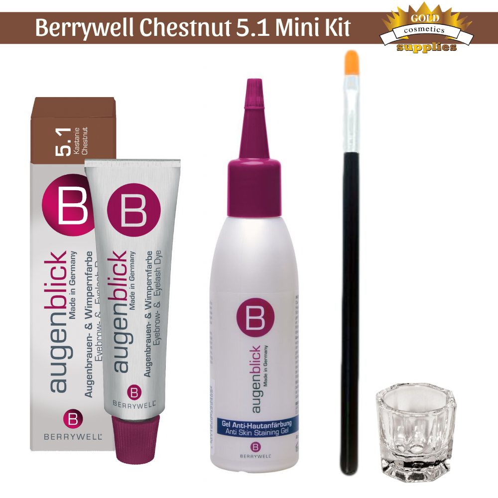 4-Pc/ Berrywell Chestnut 5.1 Kit - Gold Cosmetics & Supplies