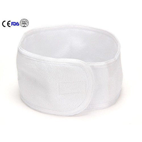 CASE/ 162-PCS WHITE TERRY SPA HEADBAND - Gold Cosmetics & Supplies