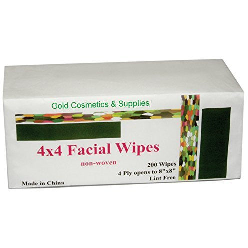 "1 CASE/ 4000-PCS Disposable Facial Cleansing Wipes 4x4"" - Gold Cosmetics & Supplies"