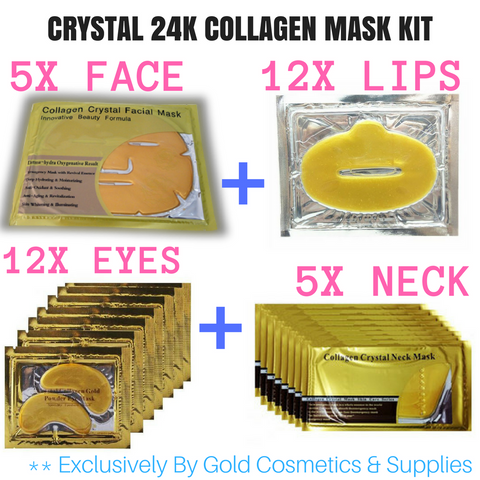 CRYSTAL COLLAGEN 24K GOLD MASK KIT