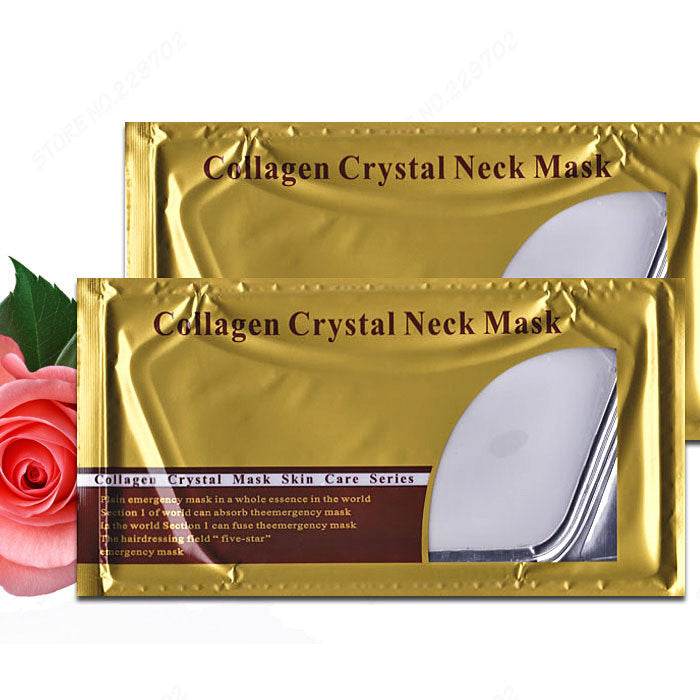CRYSTAL COLLAGEN WHITE NECK MASK - Gold Cosmetics & Supplies
