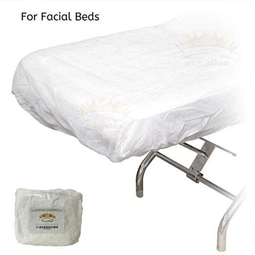1 Case/ 100-pcs Disposable Fitted Bed Sheets - Gold Cosmetics & Supplies