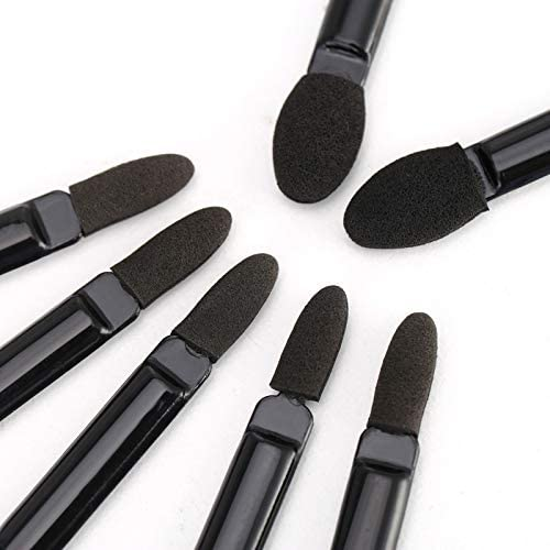 25-PCS/ Double Head Eyeshadow Brushes - Gold Cosmetics & Supplies