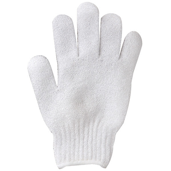 10-PAIRS/ WHITE Exfoliating Gloves - Gold Cosmetics & Supplies