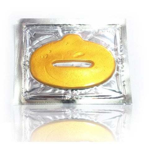 12-PCS/ CRYSTAL COLLAGEN 24K GOLD LIP MASK