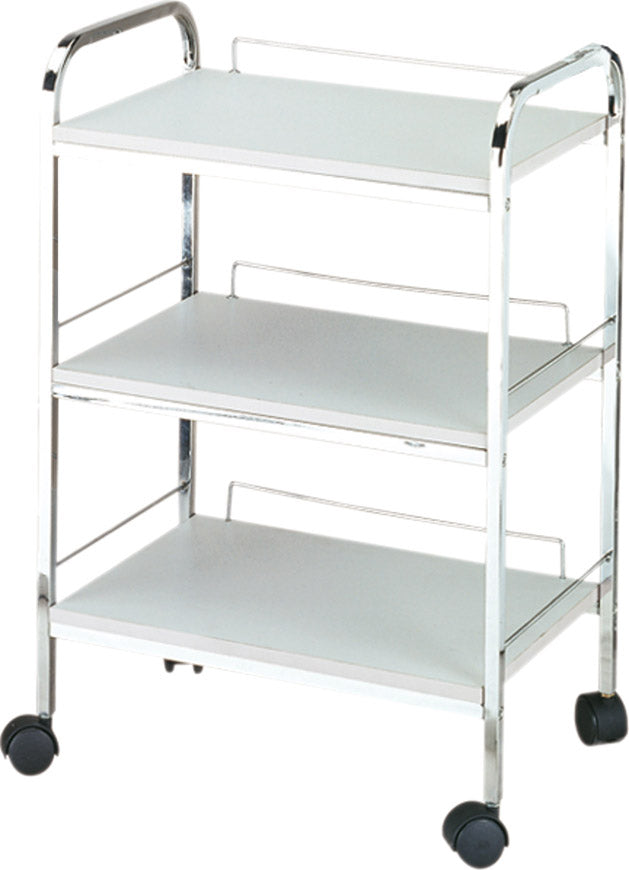 White Facial Trolley, 3 Shelves - Gold Cosmetics & Supplies