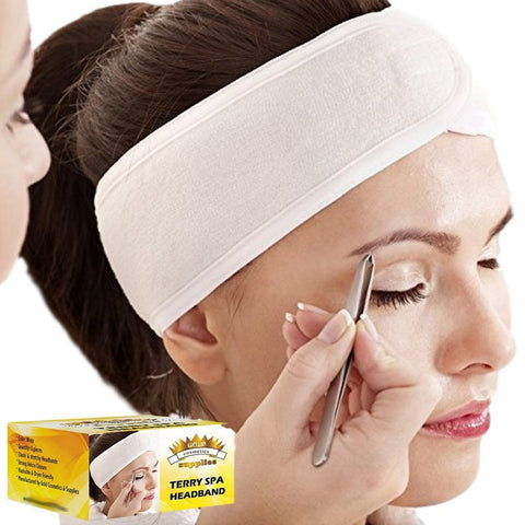 3-PCS/ WHITE TERRY SPA HEADBAND