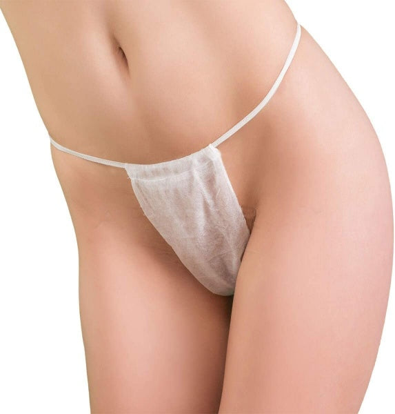 100/pcs Intrinsics Disposable Sliding Bikini Thong - White