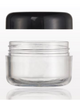 Sampling Jar With Black Cap, 5 Gram (30-pieces) - Gold Cosmetics & Supplies