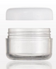 Sampling Jar With White Cap, 5 Gram (30-pieces) - Gold Cosmetics & Supplies