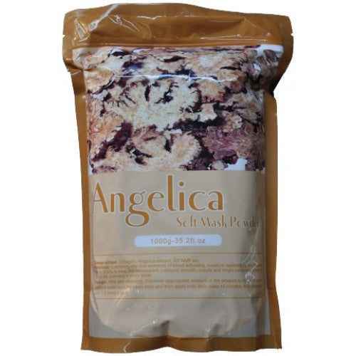 1 CASE/ 14-PCS ANGELICA SOFT PEEL-OFF MASK POWDER - Gold Cosmetics & Supplies