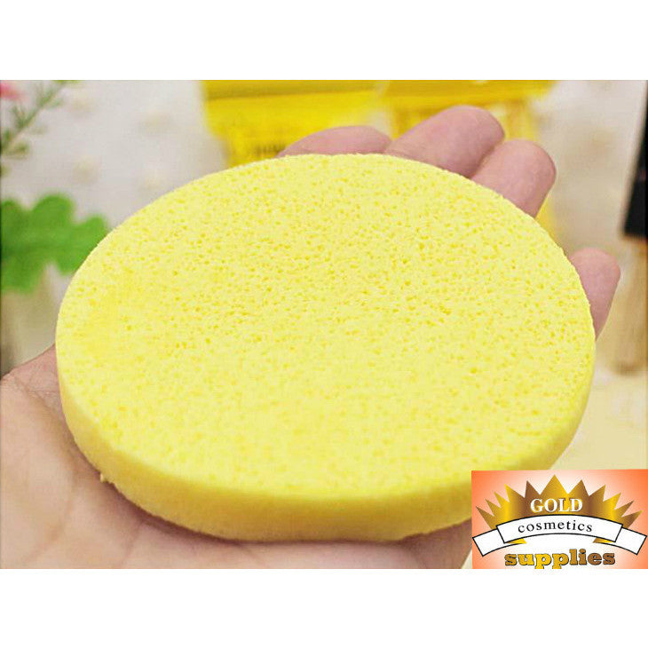 1 CASE/ 6000-PCS Compressed Cleansing Facial Sponges - Gold Cosmetics & Supplies