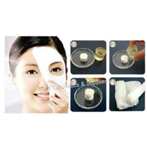 1 CASE/ 2000-PCS Disposable Compressed Face Mask Sheets - Capsules - Gold Cosmetics & Supplies