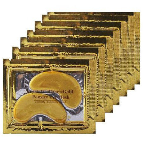 1 CASE/ 2000-Pairs CRYSTAL COLLAGEN 24K GOLD EYE MASK - Gold Cosmetics & Supplies