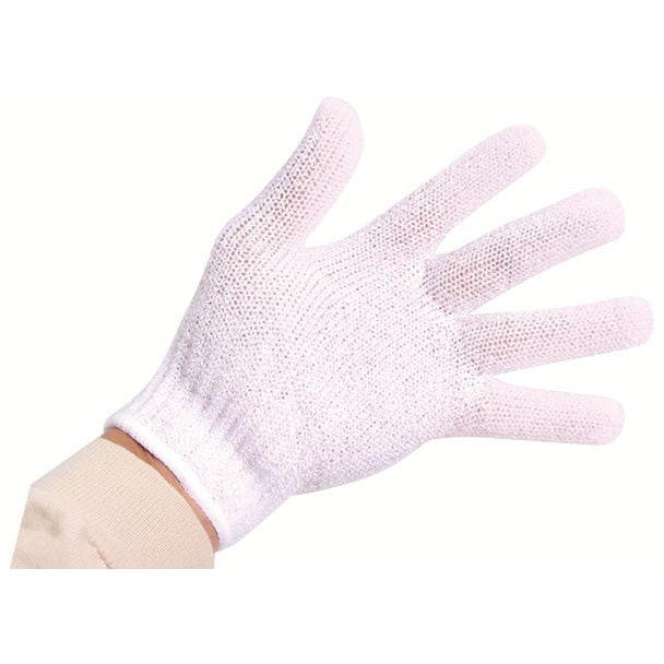 Pair Exfoliating Gloves (White) - Gold Cosmetics & Supplies
