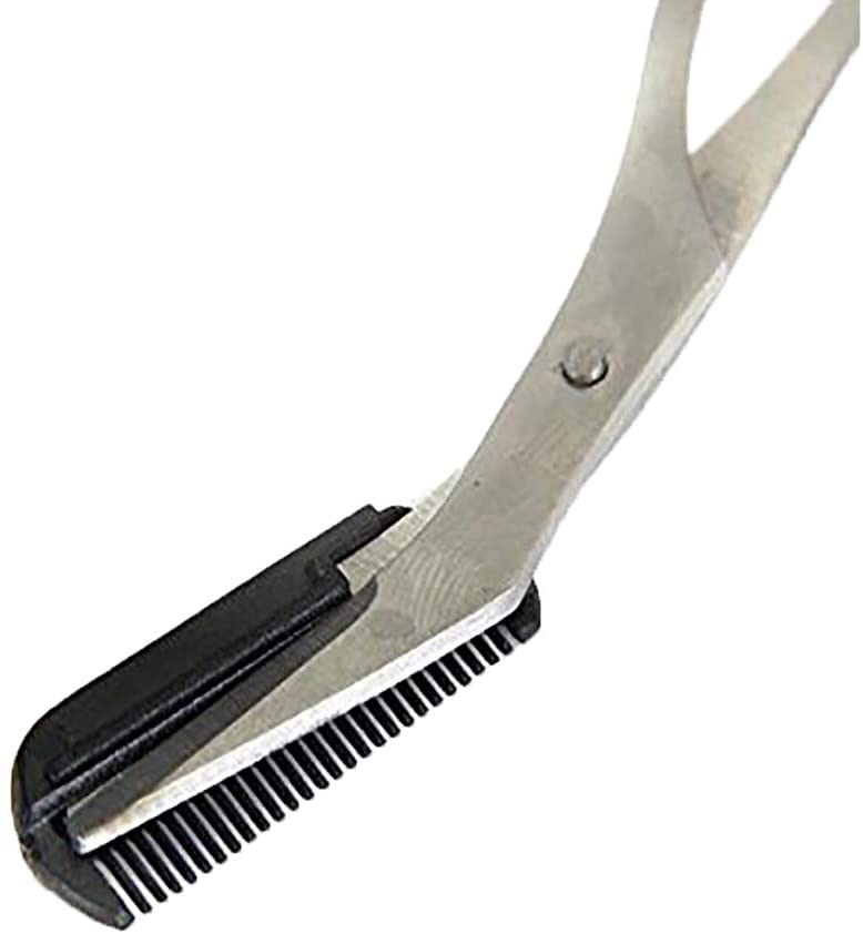 Precision Eyebrow Trimmer Scissors with Comb