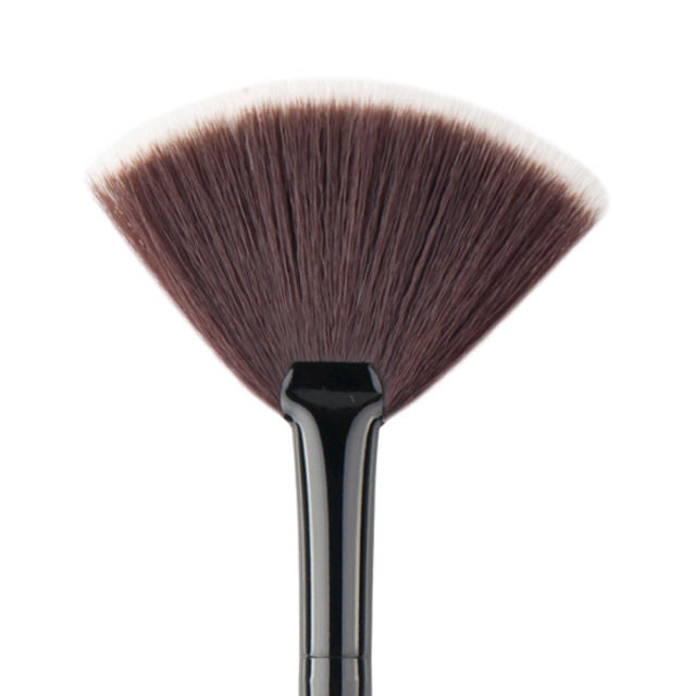 Fan Brush For Facial & Makeup (Brown) - Gold Cosmetics & Supplies