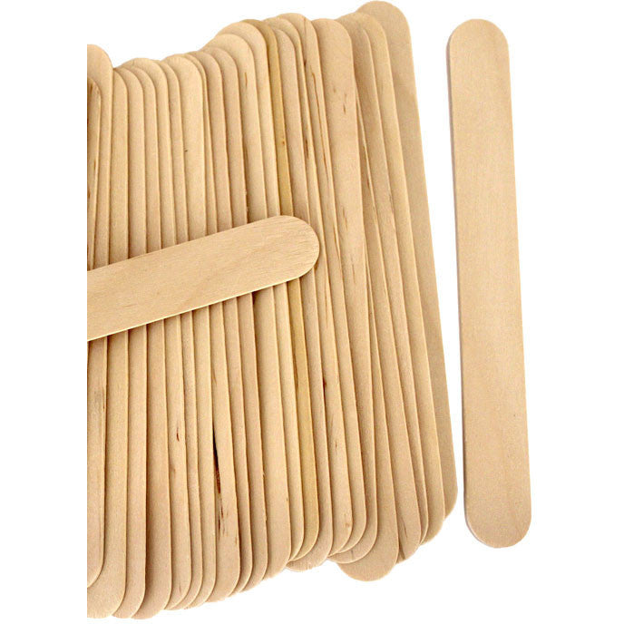 500-PCS/ Large Waxing Wood Applicators (Tongue Depressors) - Gold Cosmetics & Supplies