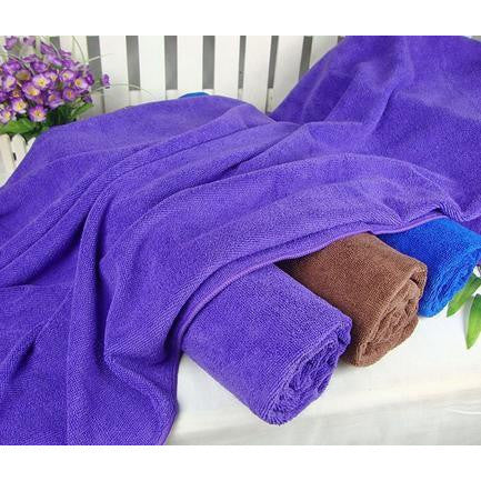 1 CASE/  180-PCS PURPLE MICROFIBER FACIAL TOWELS - Gold Cosmetics & Supplies