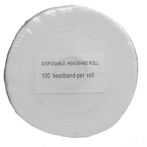 disposable headbands roll