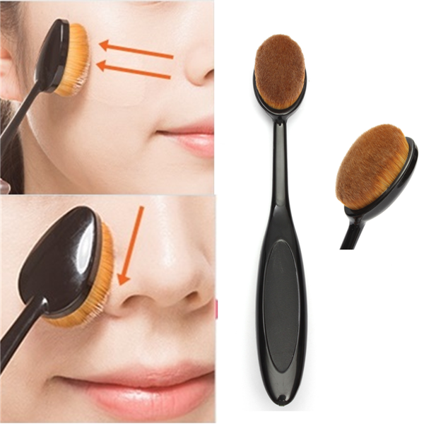 Pro Makeup Oval Brush - Gold Cosmetics & Supplies