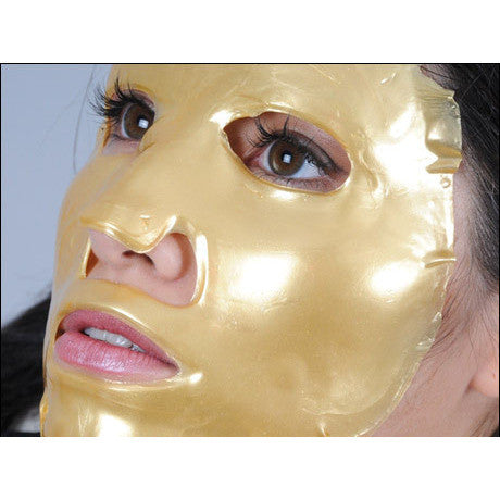 5-PCS/ CRYSTAL COLLAGEN 24K GOLD MASK - Gold Cosmetics & Supplies
