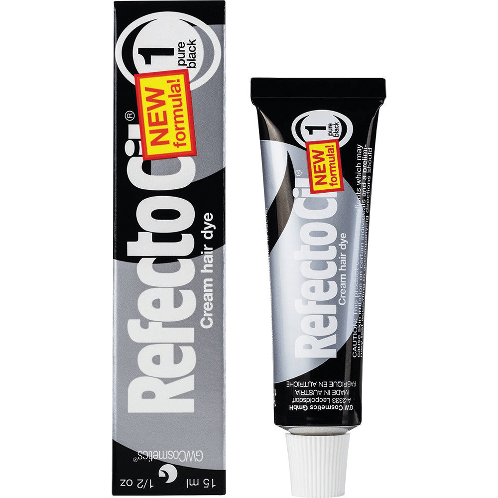 Refectocil Cream Hair Dye - 1 Black, 5 oz. - Gold Cosmetics & Supplies