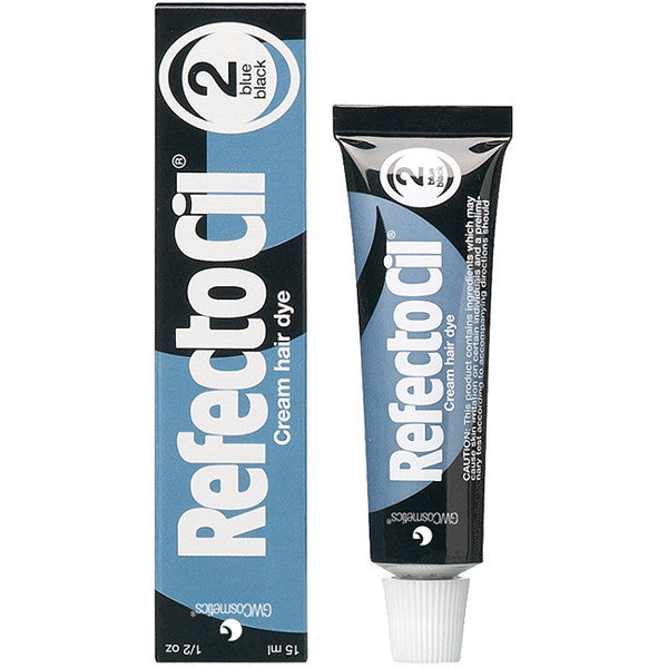 Refectocil Cream Hair Dye - 2.0 Blue-Black, 5 oz. - Gold Cosmetics & Supplies