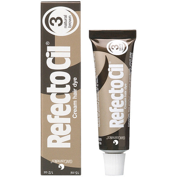 Refectocil Hair Dye Mini Kit - Natural Brown - Free Shipping - Gold Cosmetics & Supplies