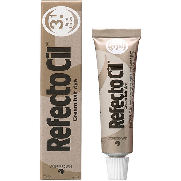 Refectocil Hair Dye Mini Kit - Light Brown - Free Shipping - Gold Cosmetics & Supplies