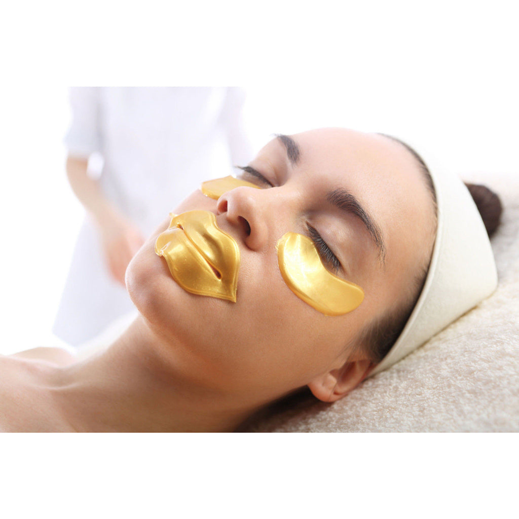 CRYSTAL COLLAGEN 24K GOLD EYE MASK (Quantity options) - Gold Cosmetics & Supplies
