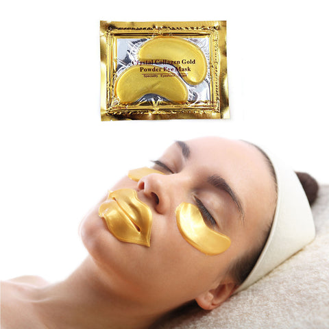 CRYSTAL COLLAGEN 24K GOLD EYE MASK (Quantity options)