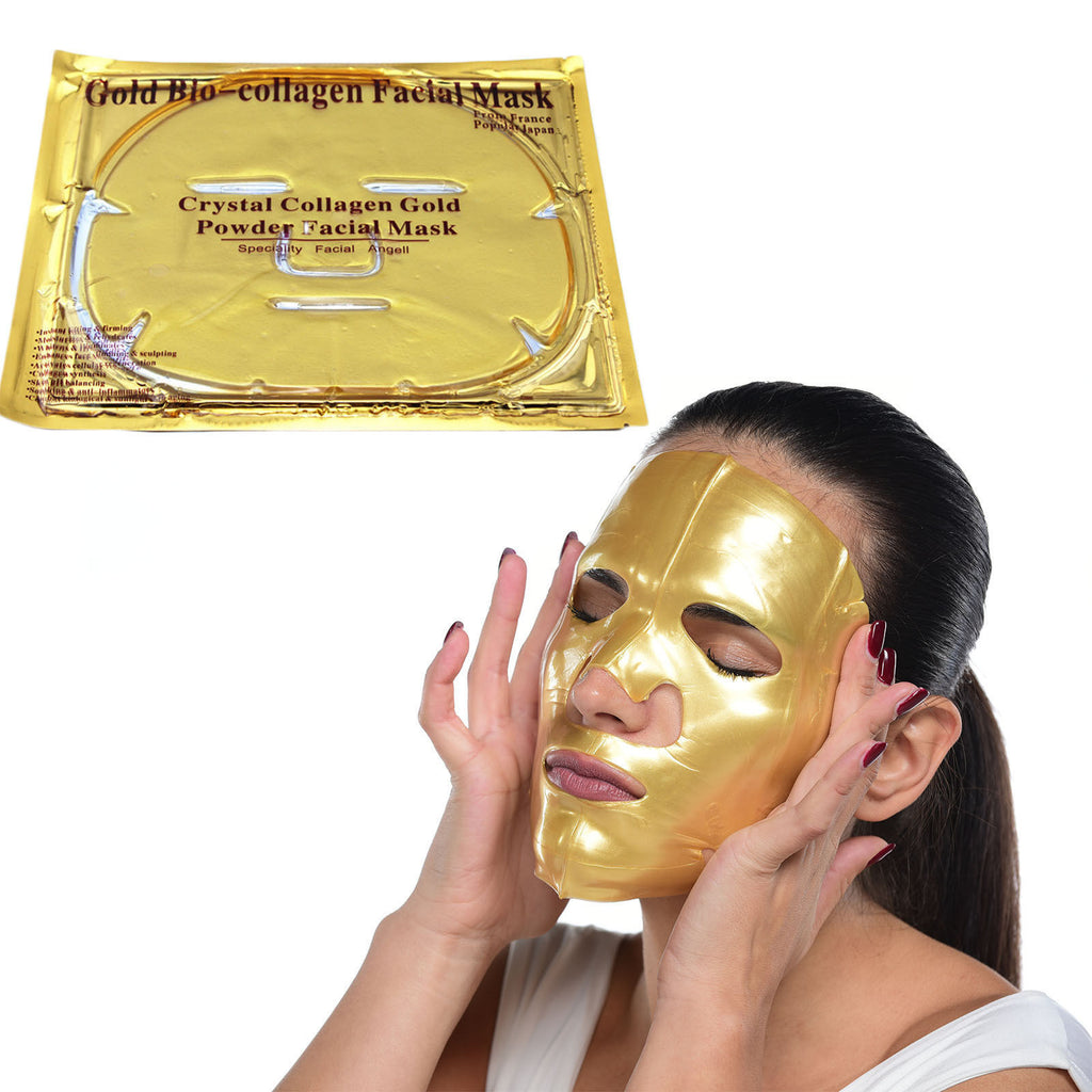 1 case/ 200-pcs crystal collagen 24k gold mask - Gold Cosmetics & Supplies