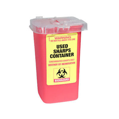 Disposable Used Sharps Container - Gold Cosmetics & Supplies