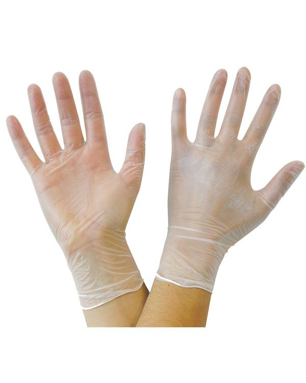 Disposable Vinyl Gloves, Powder-Free, 100-pcs - Gold Cosmetics & Supplies