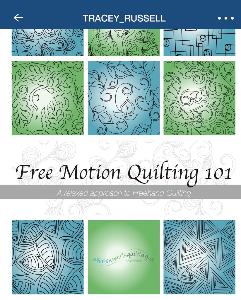 Freemotion Quilting 101 E-Book