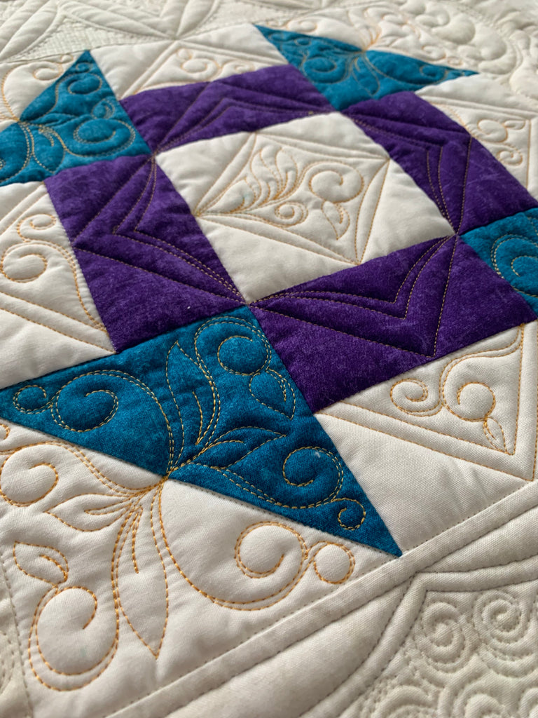 Quilting A Churn Dash Block - FREE!