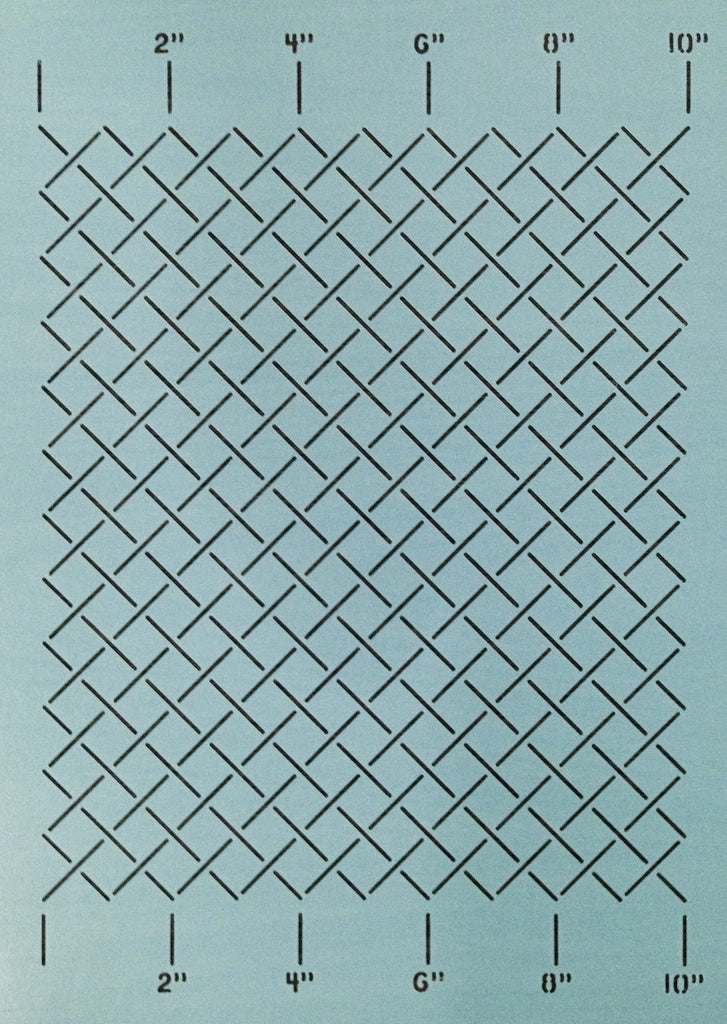"Measured Grid 1""  (10"" X 12"")"