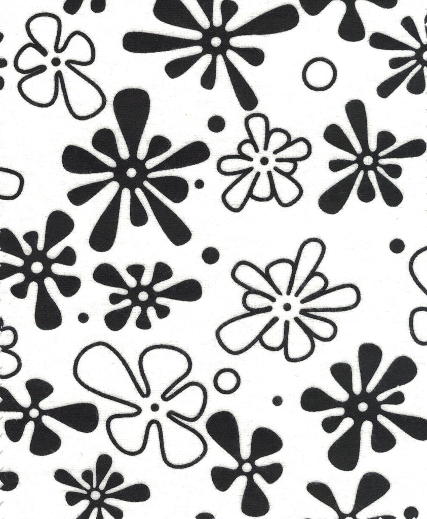 Flower Power - White with BlackF