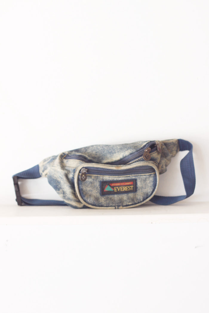 Denim Retro Fanny Pack