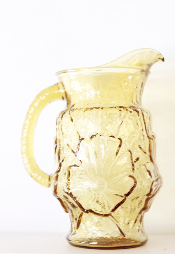 Yellow floral pitcher